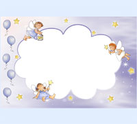 Детские рамки для фото онлайн крещение