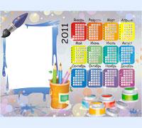 Фоторамка Календарь 2011. Все краски года
