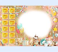 Фоторамочка Календарь 2016. Детский сказочный мир