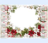 Детская рамка Детский календарь 2016. С цветами